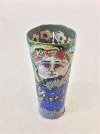 """Jane Peiser Ceramic Sculpture, 8 1/2"""" H."""