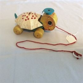 "Vintage Fisher Price Tiny Tim Turtle Toy, 6"" L."