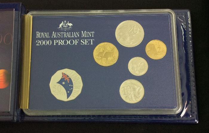 Royal Australian Mint Year 2000 Proof Set.