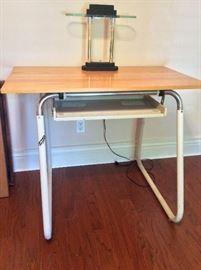 "Contemporary Desk, 33"" H x 42"" W x 24"" D. Desk Lamp."