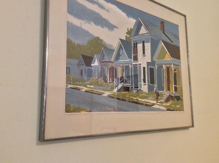 """Art by L. Hoffmann, """"S. Cedar St., Mobile, AL"""", 34"""" x 27""""."""