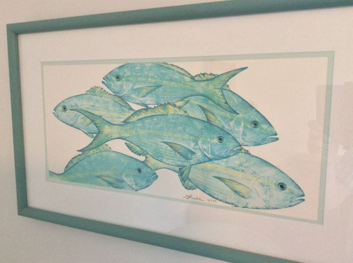 """Yellowtail Snapper"" by Diane Rome Peebles, Signed and Numbered 13/100 with COA."
