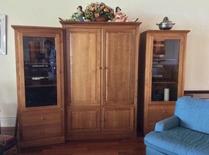 Ethan Allen Entertainment Cabinets.