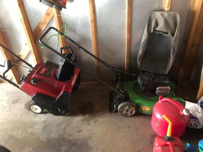 lawn mower snow blower