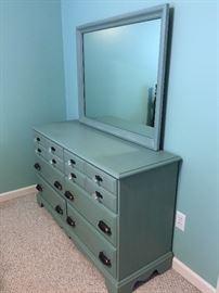 Bassett Furniture Dresser and Mirror
