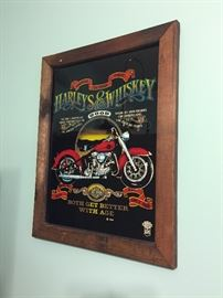 1986 Harley Davidson Harleys & Whiskey Wall Decor