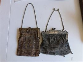 Art Deco Mesh Purses
