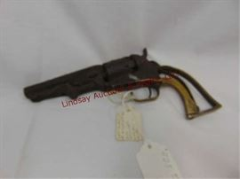 "509 - Colt Pocket 31 4"" barrel 5 shot Made 1865 Serial #303439 from Atchison, KS museum auction"