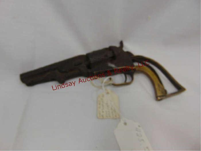"509 - Colt Pocket 31 4"" barrel 5 shot Made 1865 Serial #303439 from Atchison, KS museum auction"