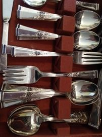"Reed and Barton Sterling flatware ""Classic Rose"""