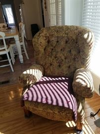 Comfy well-loved Bohemian stuffed chair $100