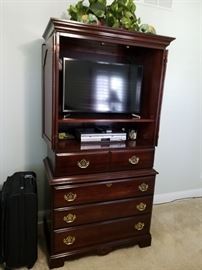 TV amoir with chest of drawers.  $150. TV is Sold.