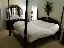 King Sleep Number Bed with Dual Controls. Includes mattresses set, frame, head and footboard. $1000.