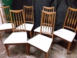 W016 Mid Century Wood Chairs