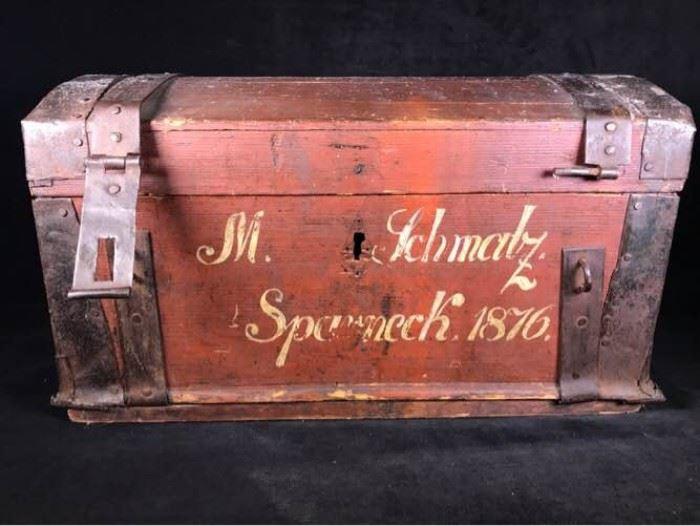 W089 1876 Wooden Chest
