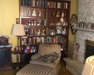 books and all sorts of collectibles