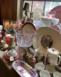 Vintage hand painted glasware, undamaged
