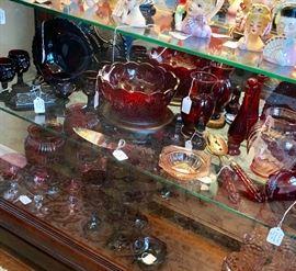 Ruby Red Depression andVintage Avon Glass