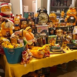 The Garfield collection includes hard to find plush toys!