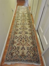 Hand knotted runner, 2 1/2' X 11 1/2'