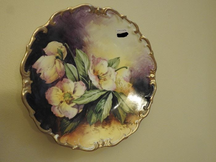 Artist signed, hand painted Limoges Charger