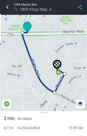 Between Atlantic Blvd. & Penman Rd. Go Florida Boulevard to Kings Road, Kings Way is the second left.