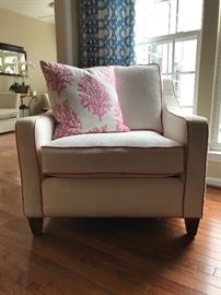 Lilly Pulitzer White Dune chair and pillow (pair)