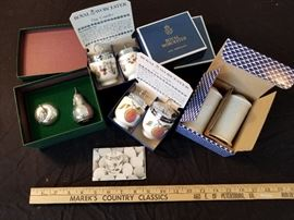 Collection of Egg coddlers and salt and pepper shakers. https://ctbids.com/#!/description/share/131955