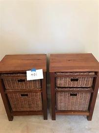 Two wood/ wicker nightstand. https://ctbids.com/#!/description/share/131973