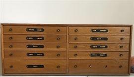 Antique German made silver flatware chest