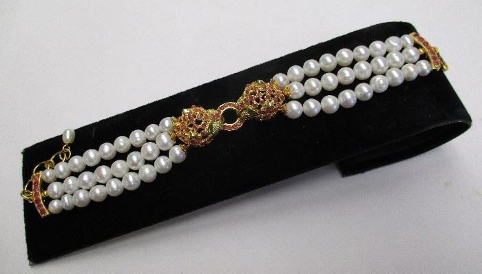 pearl and sterling bracelet