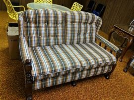 $125   3 piece plaid cottage furniture
