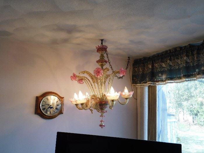 Vintage venetian murano Chandelier