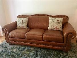 Loren Mitchell Leather Sleeper Sofa
