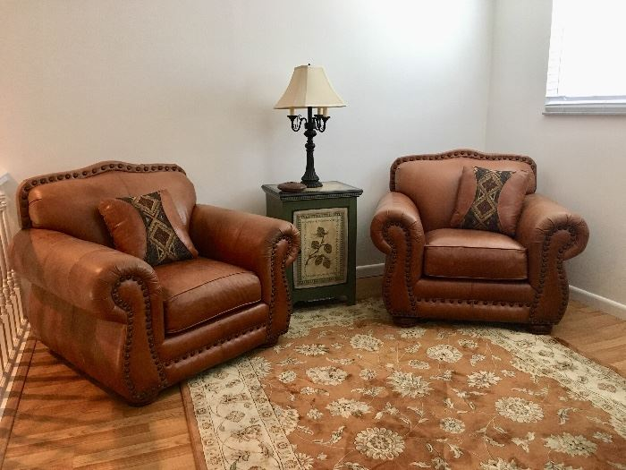 Loren Mitchell Collection Leather Chairs