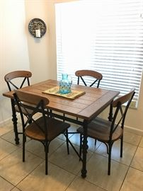 Wood and Iron Dining for Four