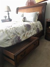 Storage in bed frame!!