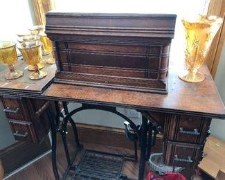 Old Wheeler & Wilson sewing machine