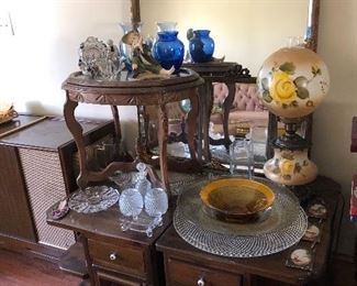 Some amazing glass items, loads of furniture and lighting