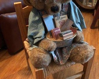 Bear on a chair