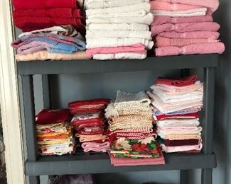 Lots of linens, curtains, bedding, more
