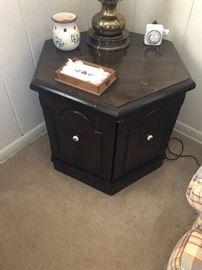 Vintage octagon end table