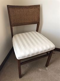 Dining chairs with cane backs