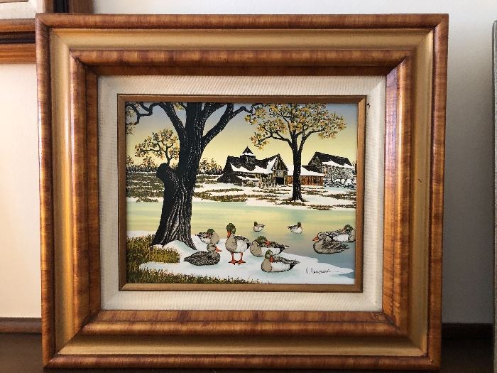 HARGROVE duck oil painting