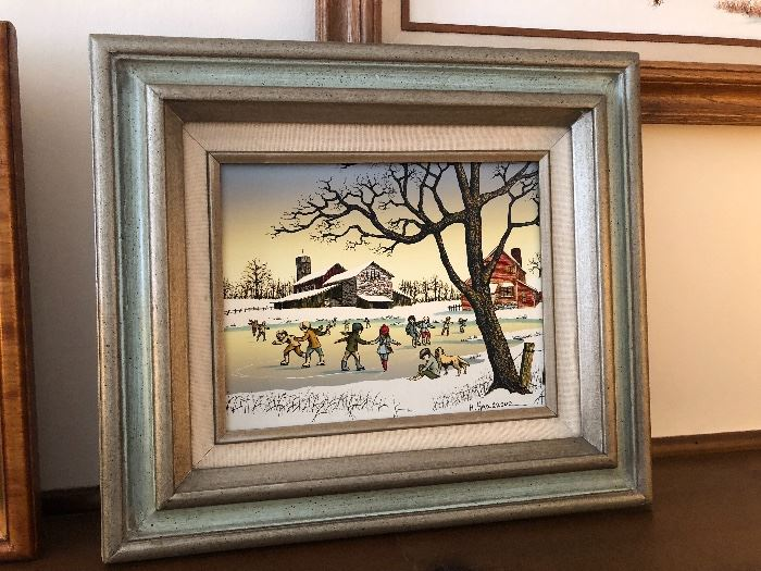 HARGROVE ice skating painting