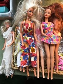 Barbie dolls from the 90's