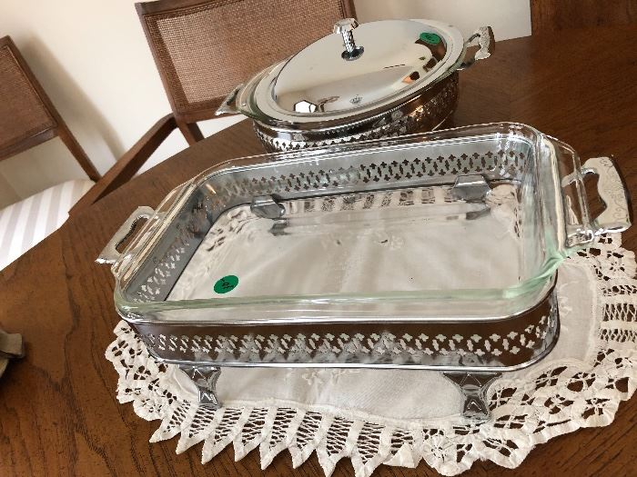 Silver plate serving