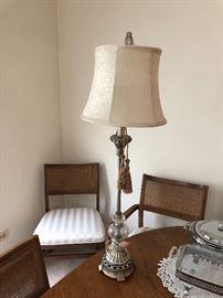 Tall ornate lamp