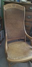 ANTIQUE CANED ROCKER  (GREAT CONDITION)
