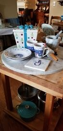 BUTCHER'S BLOCK  --  MISC. DISHES  &  PANS